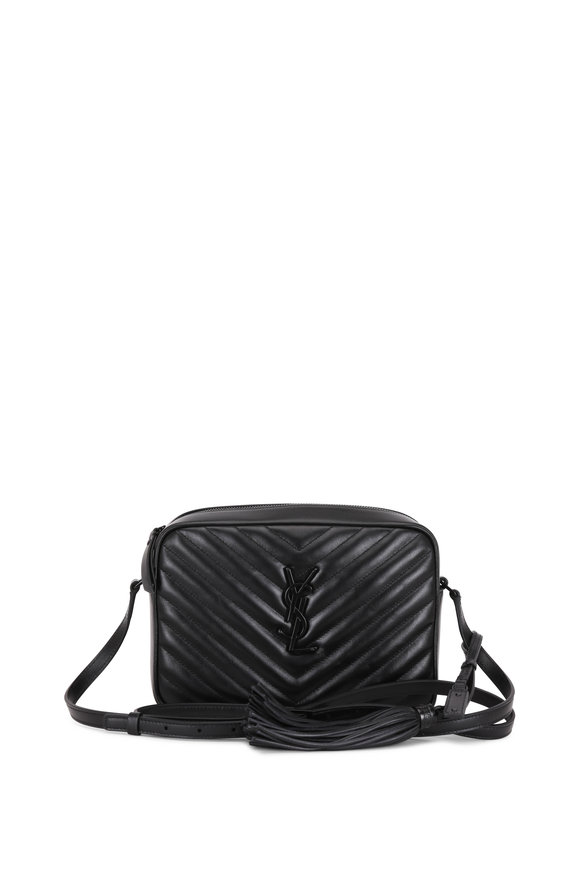 Saint Laurent Lou Monogram Black Quilted Leather Crossbody