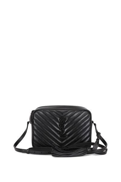 Saint Laurent - Lou Monogram Black Quilted Leather Crossbody