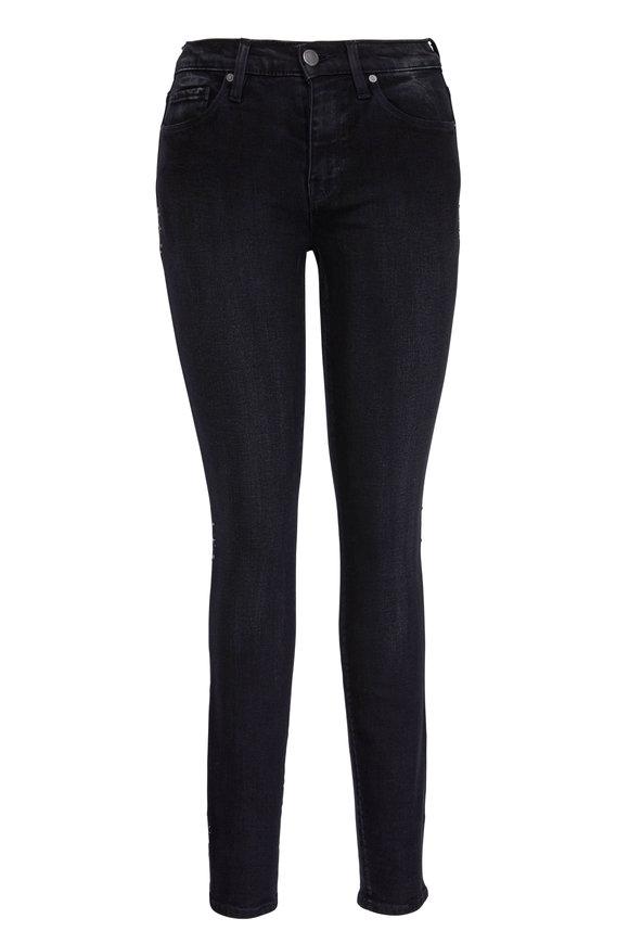 Hudson Clothing Nico Black Mid-Rise Star Side Jean