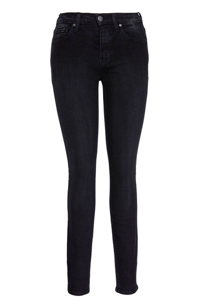 Hudson Clothing - Nico Black Mid-Rise Star Side Jean
