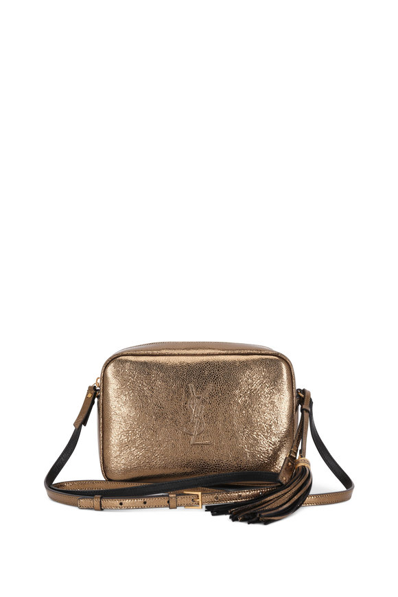 Saint Laurent Lou Monogram Metallic Gold Tassel Crossbody