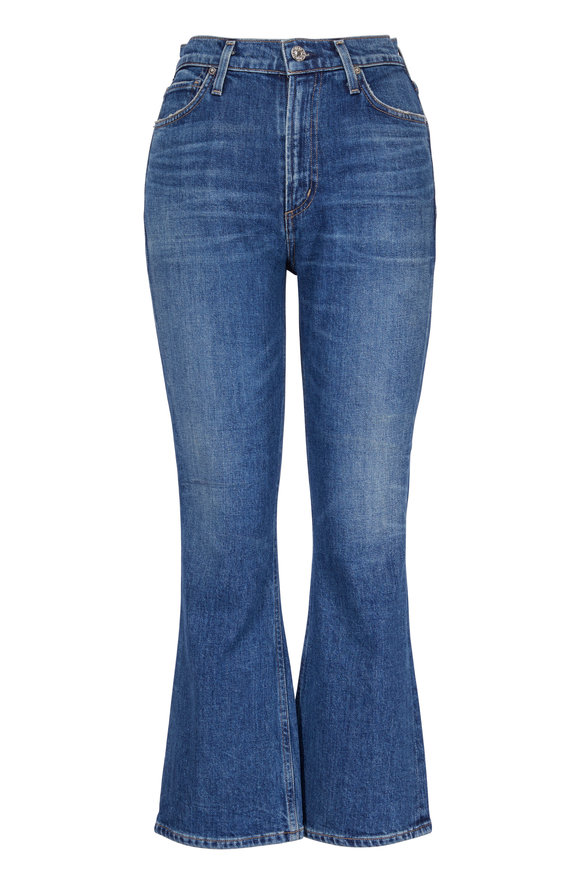 Citizens of Humanity Demy Solo Cropped Flare High-Rise Jean