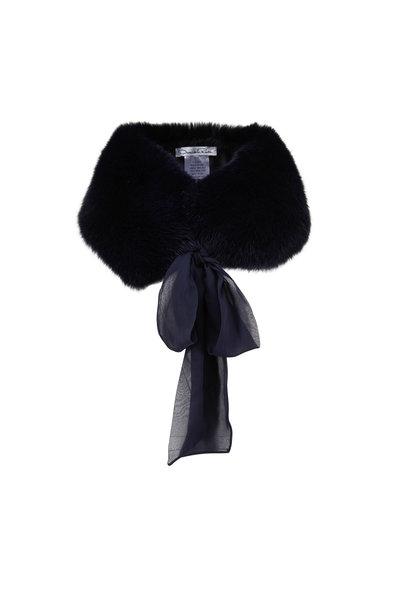 Oscar de la Renta Furs - Navy Shadow Fox Stole