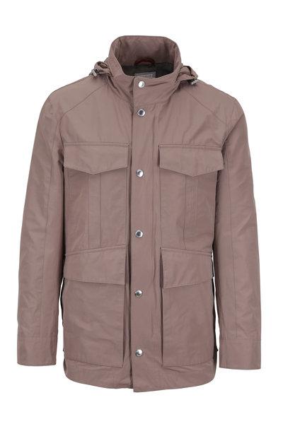Brunello Cucinelli - Taupe Water Repellent Safari Jacket