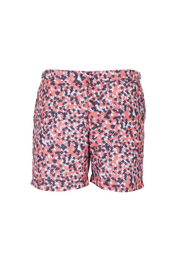 Orlebar Brown Bulldog Coral & Navy Floral Swim Trunks