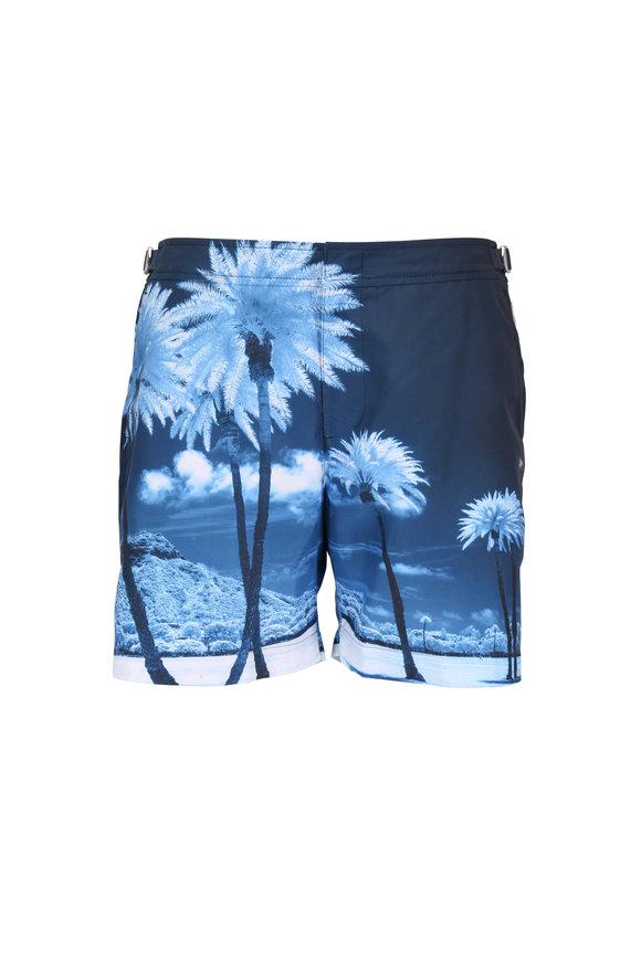 Orlebar Brown Bulldog Photographic Blue Palms Swim Trunks