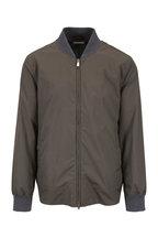 Brunello Cucinelli - Olive Cotton Bomber Jacket
