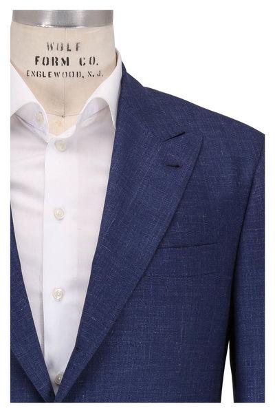 Brunello Cucinelli - Navy Blue Wool, Silk & Linen Sportcoat