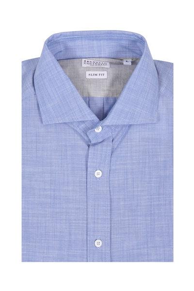 Brunello Cucinelli - Light Blue Slim Fit Dress Shirt