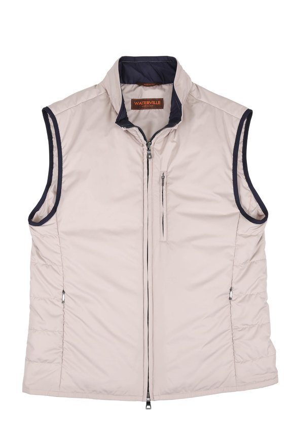 Waterville Tan Front Zip Vest