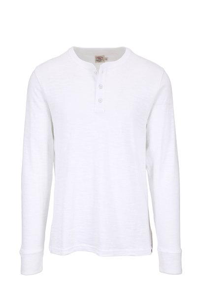 Faherty Brand - White Slub Cotton Henley