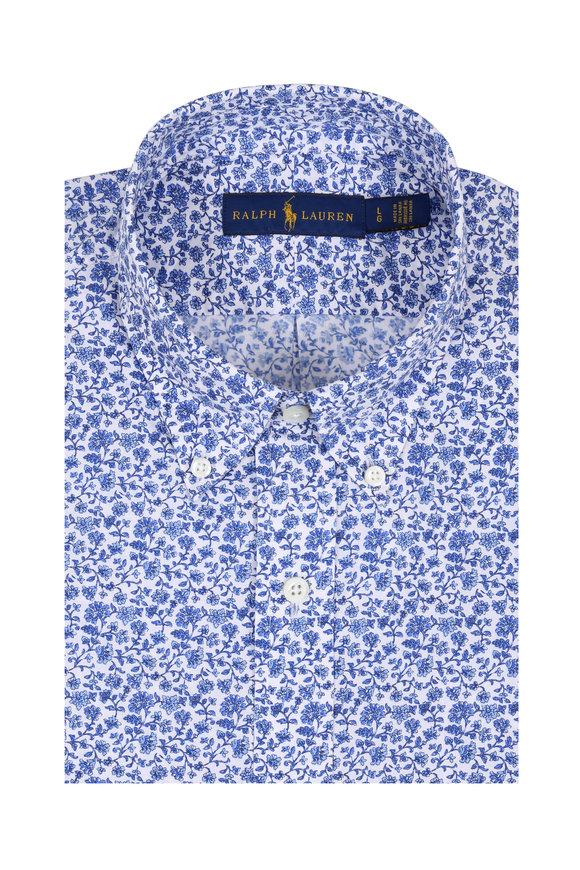 Polo Ralph Lauren Royal Blue Floral Sport Shirt