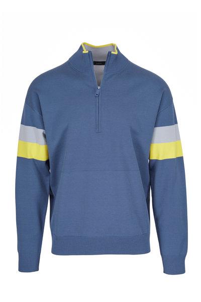 Vince - Bering Sea Blue Quarter-Zip Pullover