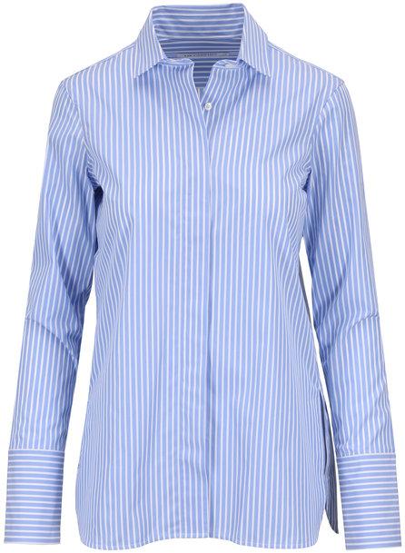Lareida Taylor Blue & White Slim Button-Up Blouse