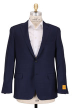Hickey Freeman - Navy Tonal Check Wool Sportcoat