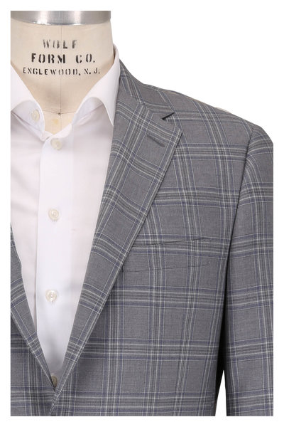 Hickey Freeman - Beacon Gray Plaid Wool Sportcoat