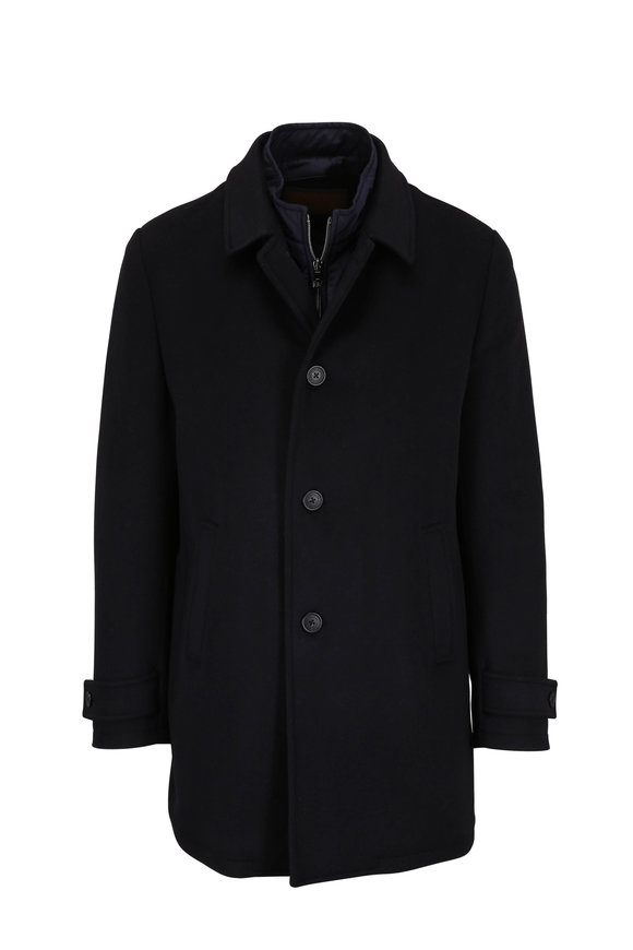 Corneliani Navy Water Resistant Car Coat