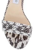 Jimmy Choo - Jaimie Natural Glossy Snakeskin Sandal, 40mm