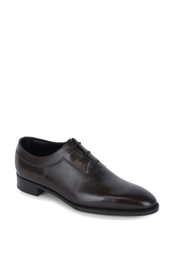 John Lobb Holt Dark Brown Leather Oxford