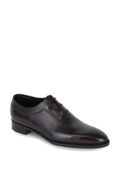 John Lobb - Holt Dark Brown Leather Oxford