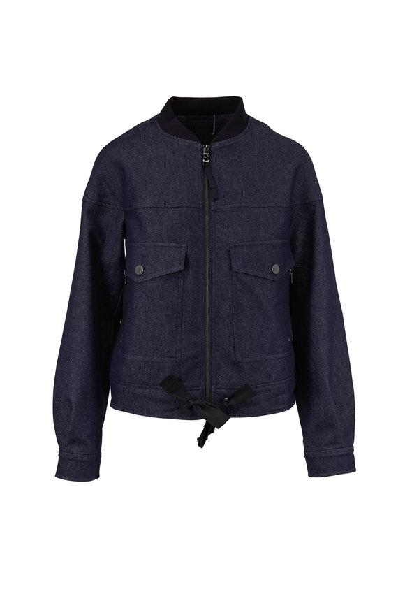 Bogner Ella Denim Blue Bomber Jacket