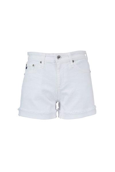 AG - Adriano Goldschmied - Hailey White Ex-Boyfriend Raw Edge Denim Shorts