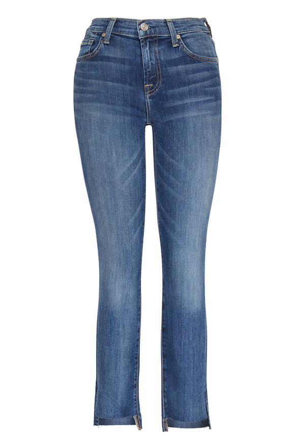 7 For All Mankind (B)air Roxanne Authentic Luck Step Hem Jean