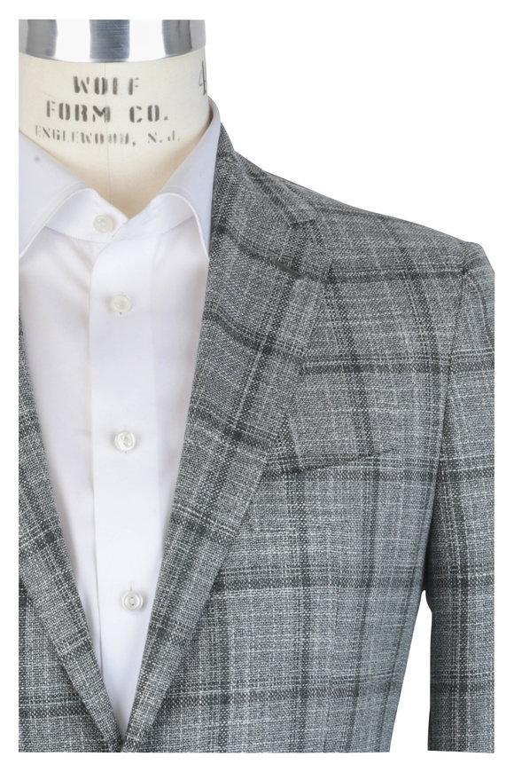 Mauro Blasi Green Wool Windowpane Sportcoat