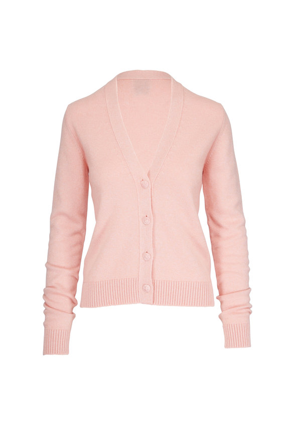Barrie Light Pink Ribbed Cardigan