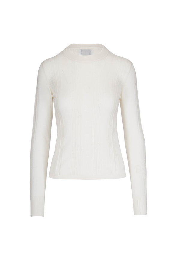 Barrie Off-White Cashmere & Silk Sweater
