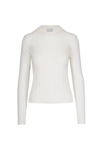 Barrie - Off-White Cashmere & Silk Sweater