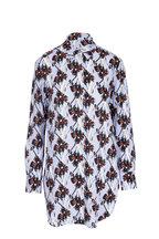 Dorothee Schumacher - Flower Breeze Blue Silk Tunic Blouse
