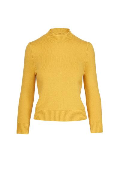 CO Collection - Saffron Cashmere Mock Neck Sweater