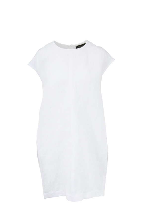 Antonelli White Linen Cap Sleeve Dress