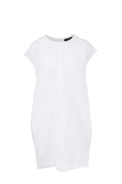 Antonelli - White Linen Cap Sleeve Dress