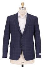 Samuelsohn - Bennet Navy Blue Large Plaid Wool Suit