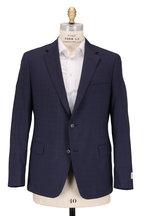 Samuelsohn - Bennet Navy Blue Tonal Check Wool Suit