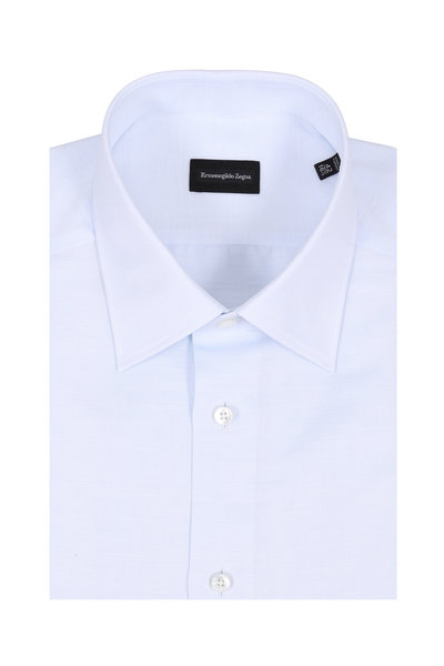 Ermenegildo Zegna - Light Blue Textured Dress Shirt
