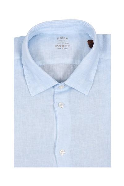 Altea - Light Blue Wash Linen Sport Shirt