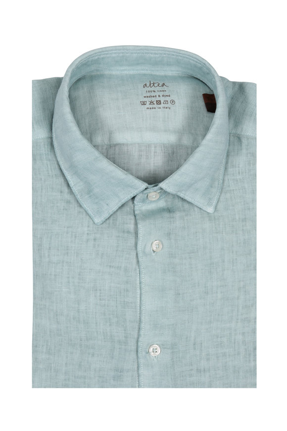 Altea Sage Wash Linen Sport Shirt