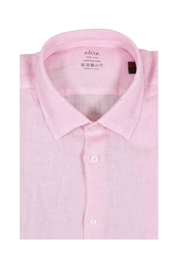 Altea Light Pink Wash Linen Sport Shirt