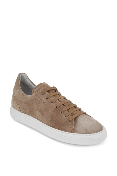 Brunello Cucinelli - Light Brown Suede Sneaker