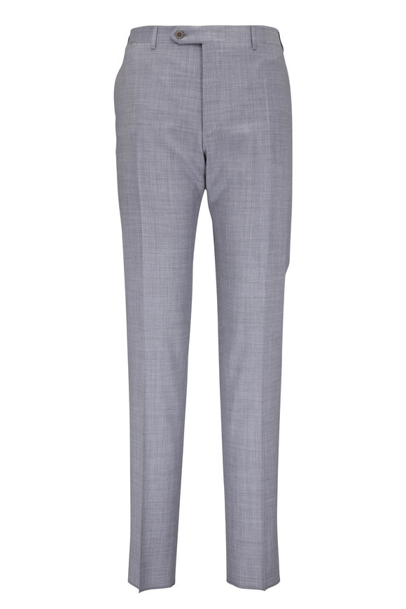 Canali Light Gray Wool Pant
