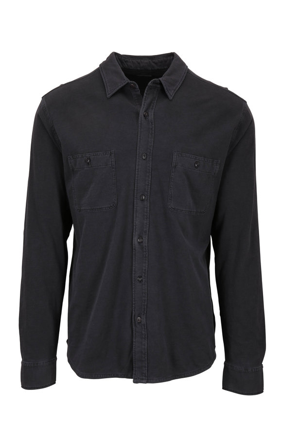 Faherty Brand Seasons Washed Black Knit Shirt