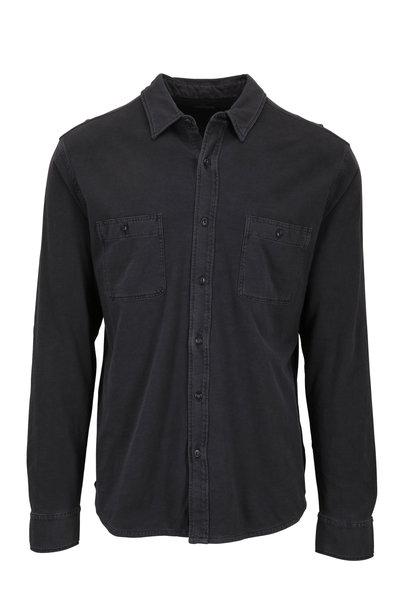 Faherty Brand - Seasons Washed Black Knit Shirt