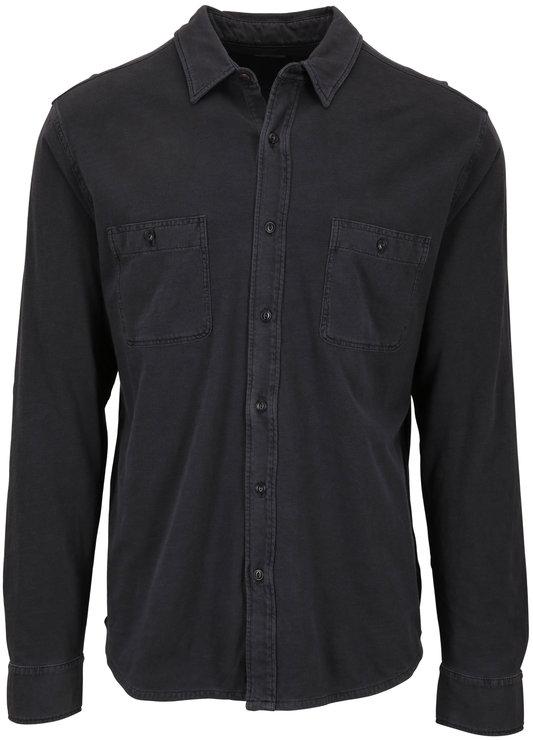 Faherty Brand Seasons Washed Black Knit Shirt