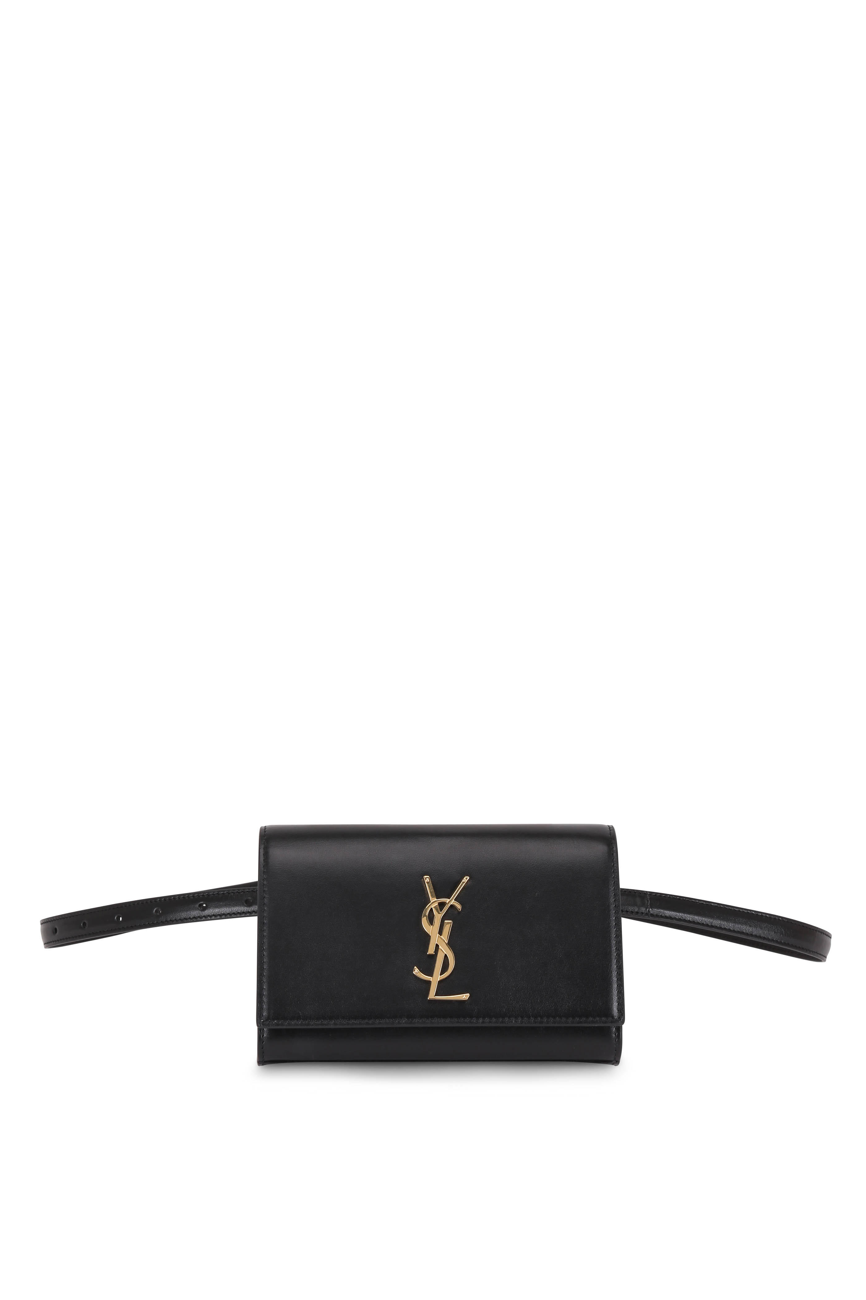 8040e85cf69 Saint Laurent - Kate Black Leather Belt Bag | Mitchell Stores