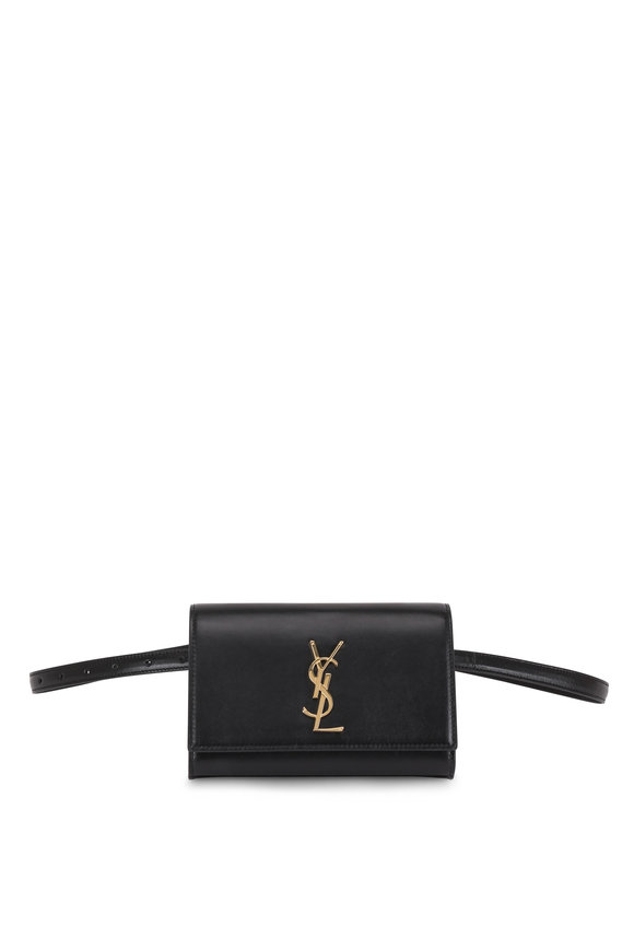 Saint Laurent Kate Black Leather Belt Bag