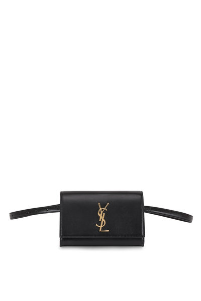 Saint Laurent - Kate Black Leather Belt Bag