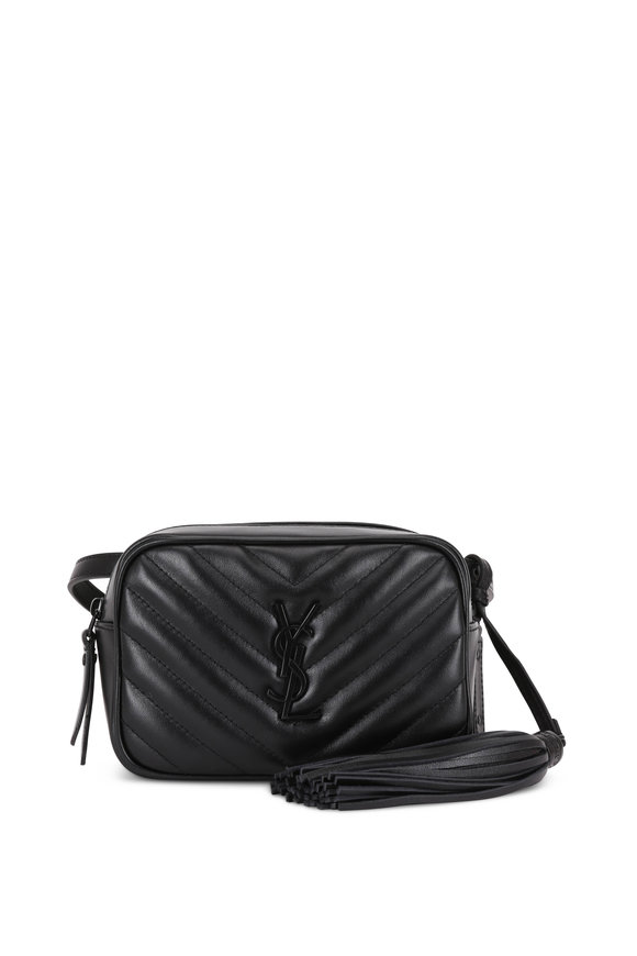 Saint Laurent Lou Black Matelassé Leather Belt Bag